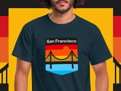 San Francisco san francisco brand logo colors patch print american america