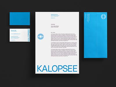 Kalopsee - Visual Identity print graphic design optical eyes eye tecnologt vr future brand visual identity visual design branding logo business card