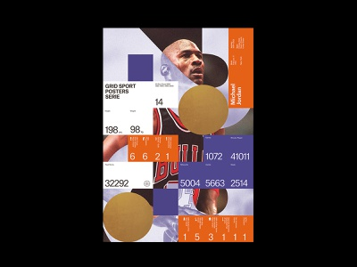 Tribute to Michael jordan print information design graphic design grid legend chicago basket nba poster sport infographic