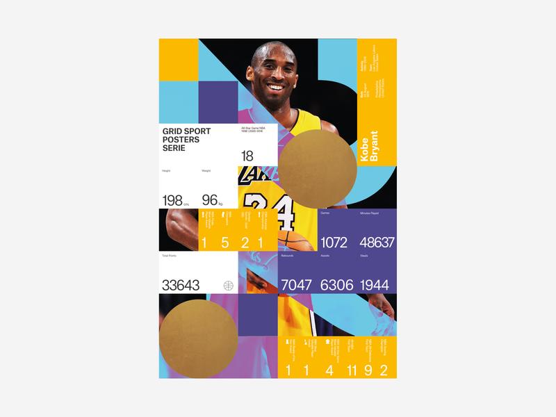 Tribute to Kobe Bryant infographic sports print poster nba los angeles lakers legend kobe bryant design exploration basketball sport basket