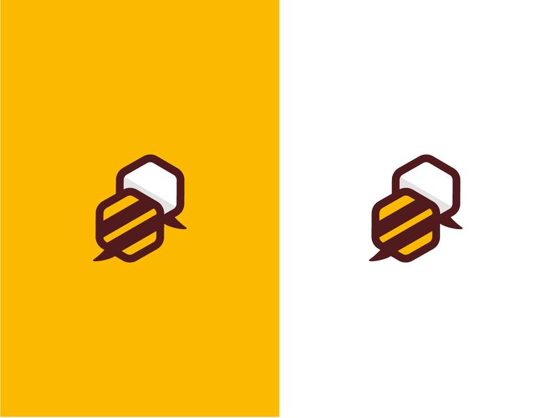 Hive - Online Language School learning cloud online call branding language school speeck logo bee hive