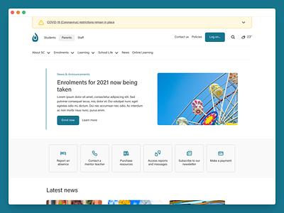 School website and internal dashboard mobile ui dashboad design clean web ux ui minimal flat app