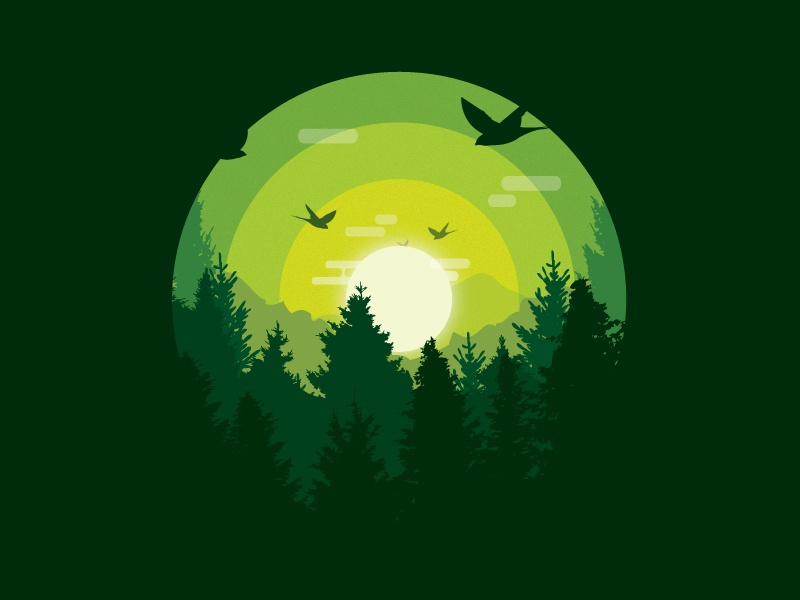 Explorer Series : The Forest. figure ground gradient texture illustrator illustration graphic design graphics forest. design