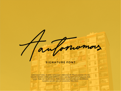 Autonomos Signature Font vector ui logo icon flat design animation branding app illustration handwritten font typography design