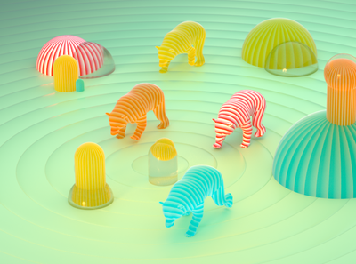Gummy bear animation digital art art direction 3d visualization rendering octane render cinema 4d gummy bear illustration 3d animation bear gummy