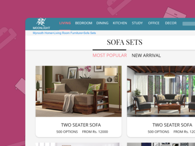 Category  page of an eCommerce website