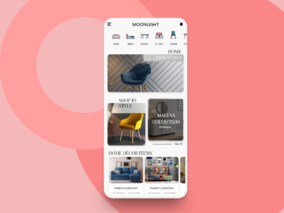 Furniture App Homepage