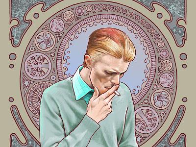 David Bowie in Mucha design art nouveau bowie mucha alphonse mucha david bowie