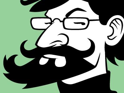 Caricature caricature self portrait vector
