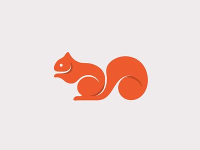 Squirrel logo orange squirrel