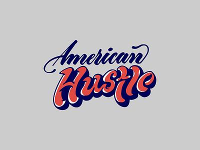 American Hustle logo lettering typography illustrator vector