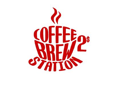 Clare's Coffee Brew Station design logo mark coffee cafe brew