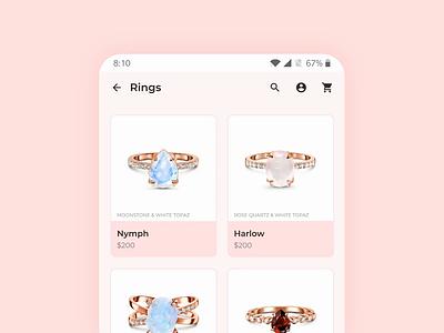 Minimal Mobile Header smart animate figma ecommerce app product design interaction design mobile ui ux ux design ui design