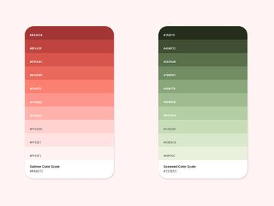 Sushi Delivery App - Colors branding swatches design palettes graphic design dribbble ui design ui food sushi color palette color