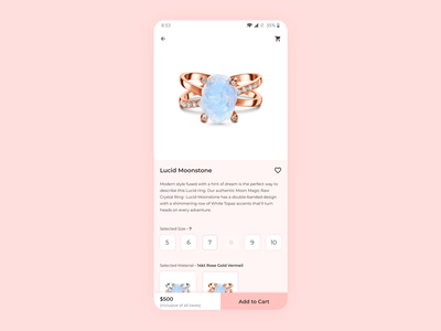 Product Page - Auto swiping images mobile app interaction design ux design ux product design mobile figma dribbble ui design ui
