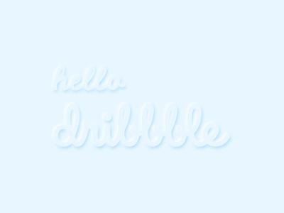 hello dribble neomorphism typography firstshot