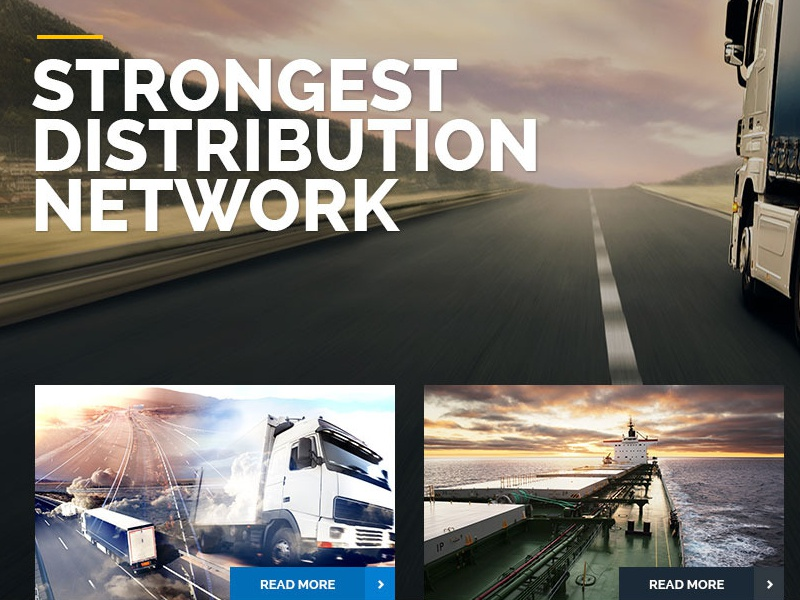 Trucking - Transportation and Logistics PSD by Pixel