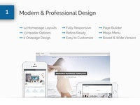 Mixed modern professional business wordpress theme