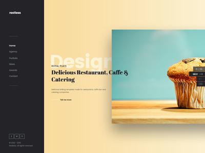Restless Stunning Flexible Lightweight Website Template fullscreen agency parallax modern lightweight clean