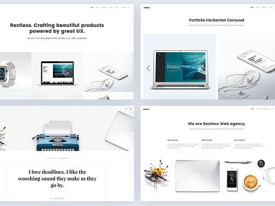 Restless - Agency Portfolio Layout agency parallax modern lightweight clean