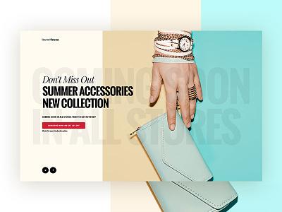 Launchbuzz Series - Shop New Collection  design ux shop ui coming soon