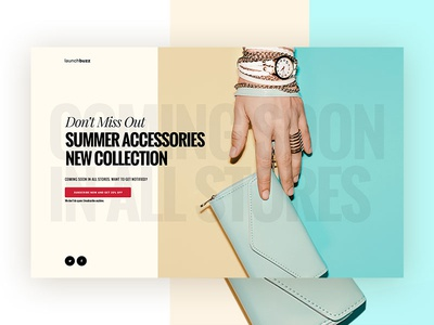 Launchbuzz Series - Shop New Collection  design ux shop ui coming soon