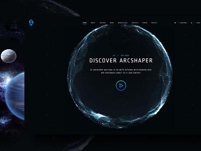 The ArcShapeR strategy fantasy sci-fi development animation ux design