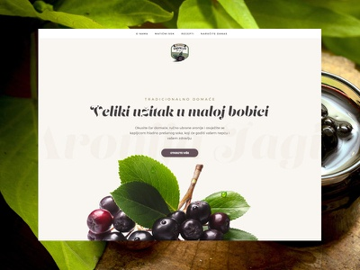 Aronia Homemade Products packaging product showcase digital storytelling strategy web development design ux