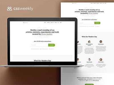 Cssweekly Redesign web design newsletter design ux ux design