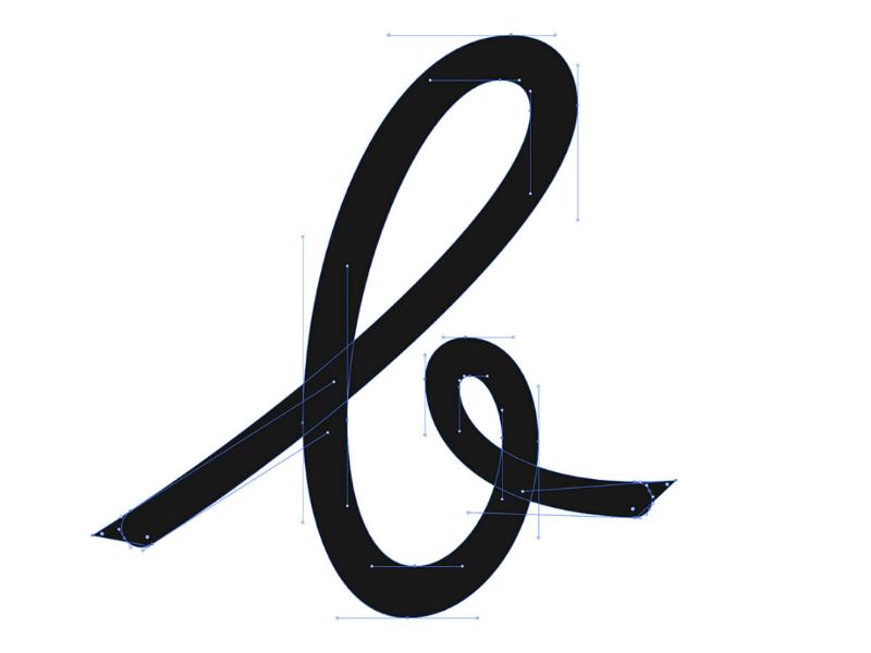 B handlettering typeart typography type art illustrator design designer letter vector lettering