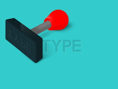 Type Stamp rubber stamp type