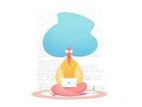 "Blog Illustration ""Coded Women"" <3"
