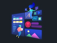 Ferreyro&Co. Web illustration