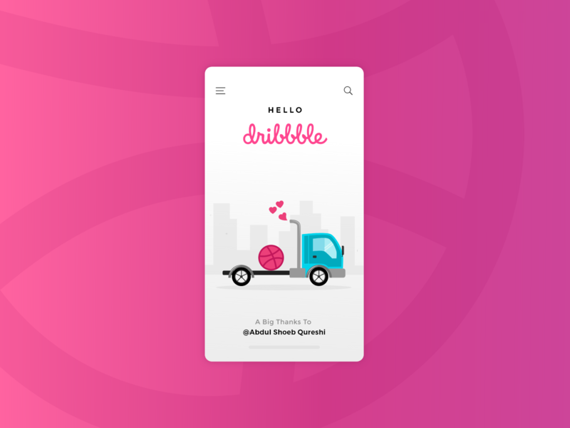 Hello Dribbblers! drink designs design app dribbble best shot illustrator vector website ui ux invite design web app agency company dribbble dribbble invite design