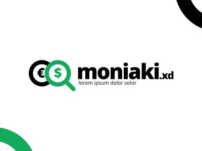 Moniaki euro dolar low money id logo branding ilustrator