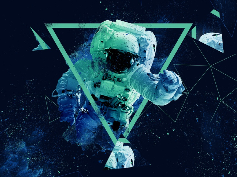 Space design abstract ilustrator photoshop ilustration blue astronaut space
