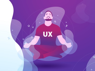Ux meditation fly men photoshop abstract ilustrator
