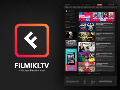Filmki.tv ilustrator sketch 2 logo branding sketch webdesign web ux designer ui ux