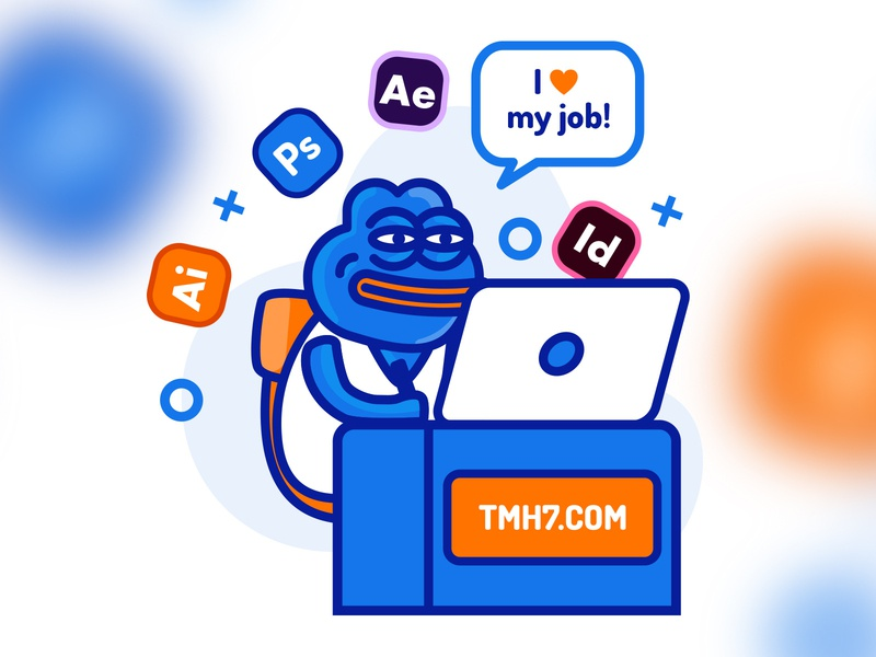 Pepe tmh7.com vector pepe illustration photoshop ilustrator