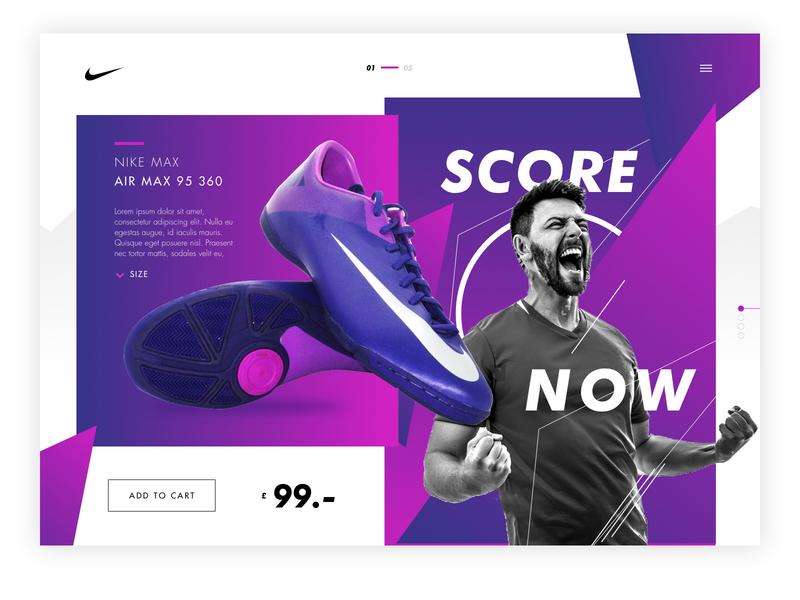 Nike LP - concept shoes nike design uxuidesign ux webdesign photoshop