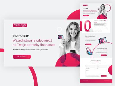 Millenium Bank - LP Concept uidesign webdesign concept landing design photoshop ui