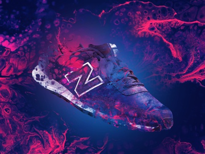 New Balance shoes balance new newbalance blue red shoes abstract photoshop