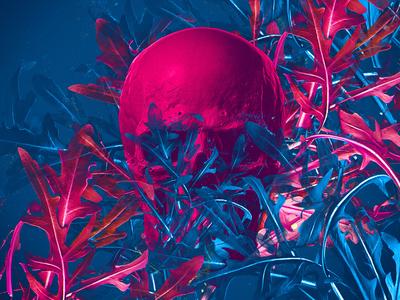 Cool skull blue skull art pink cool skull illustration abstract photoshop