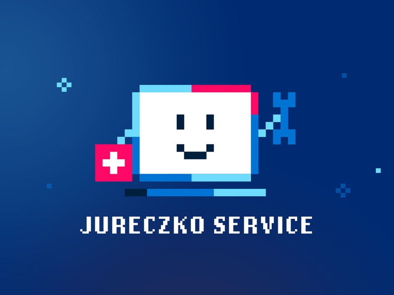 Jureczko Computer Service pixelart pixel illustration abstract photoshop branding design logo
