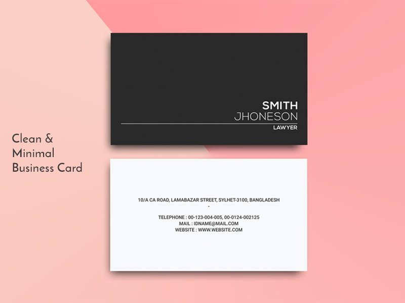 Clean Personal Business Card Template By Helal Uddin Dribbble