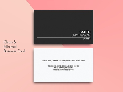 Clean Personal Business Card Template