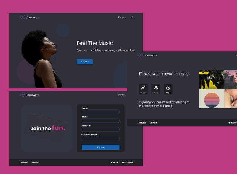 Soundwave - Music streaming app app website vector design streaming app music player music app music