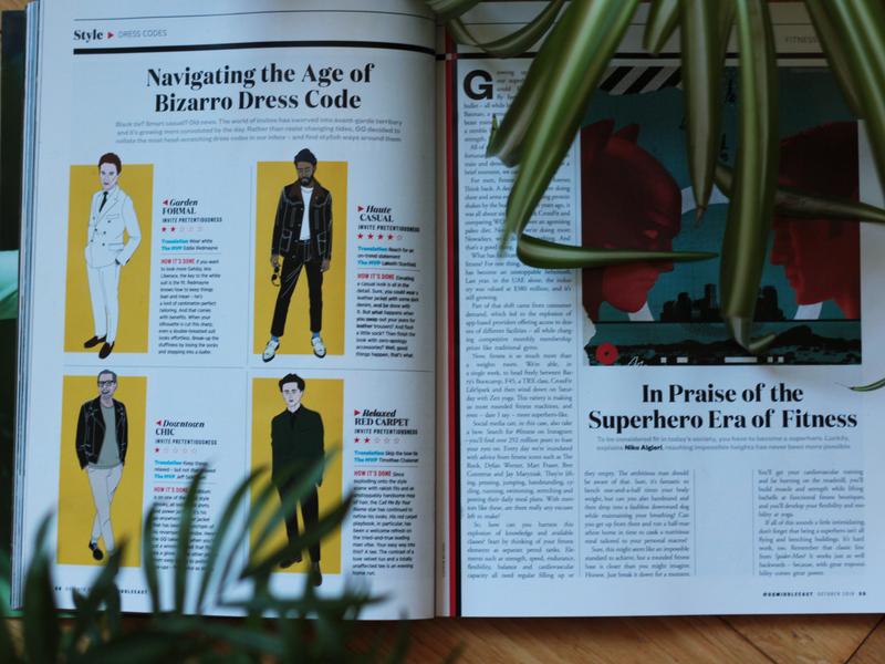 Fashion illustrations GQ digital vector art design illustraor freelance designer editorial illustration gqmiddleeast gq fashionillustration