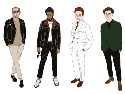 Fashion illustrations GQ