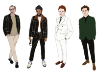 Fashion illustrations GQ